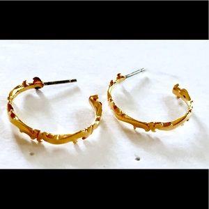 Gold Hoop Earrings Vintage
